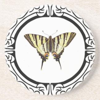 Kreis des Schmetterlinges Sandstein Untersetzer