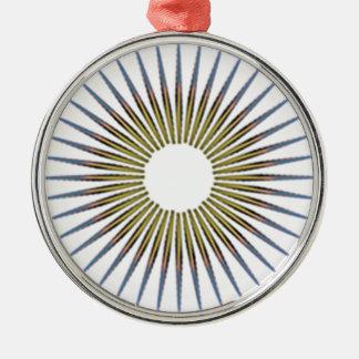 Kreis Silbernes Ornament