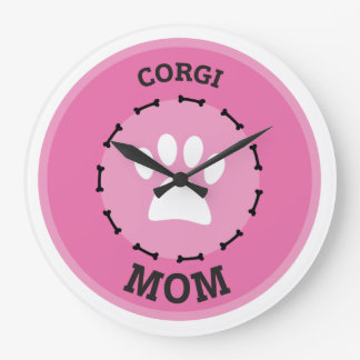 Kreiscorgi-Mamma-Abzeichen Große Wanduhr