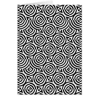 Kreise und Quadrate Grußkarte