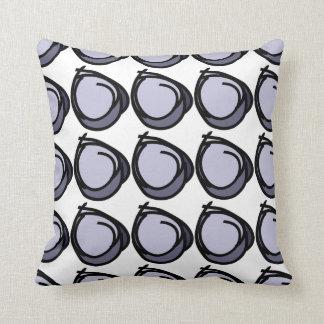 Kreisschwarzes u. -Blues - Kreise kopieren Kissen