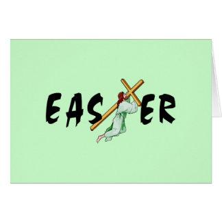 Kreuz Ostern Jesus Mitteilungskarte