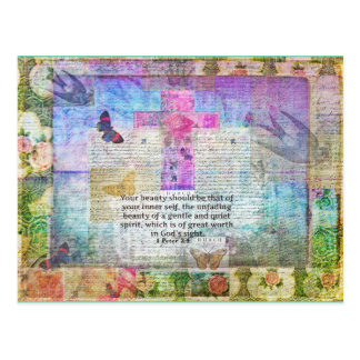 Kreuz, Schrifts-Kunst, Bibel-Vers-Kunst-Glaube Postkarte