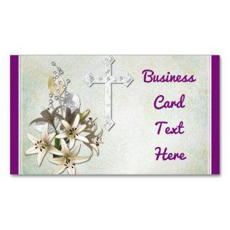 Kreuz und Blumen Visitenkartenmagnet