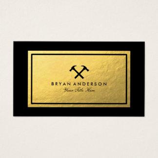 Kreuzende schwarze Hammer-Visitenkarte Visitenkarte