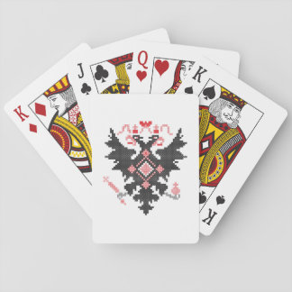 Kreuzstich RUSSISCHES ZWEI-KÖPFIGES KAISEREAGLE Spielkarten