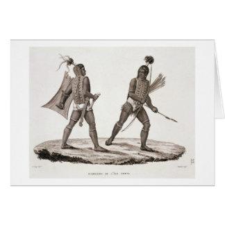 Krieger von der Insel von Ombai, 'vom Reise-Au Karte