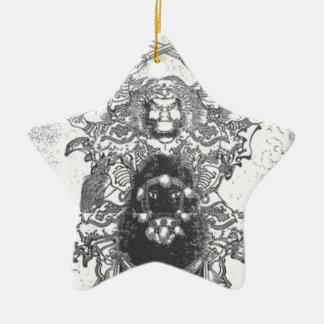 Krieger zu Pferd Keramik Ornament