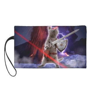 Kriegerskatzen - Ritterkatze - Katzenlaser Wristlet Handtasche