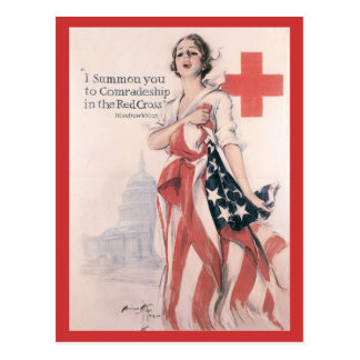 Kriegs-Postkarten, Vintages rotes Kreuz Postkarte