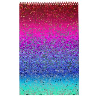 Kristall-Glitter-Stern-Staub des Kalender-2016 Kalender
