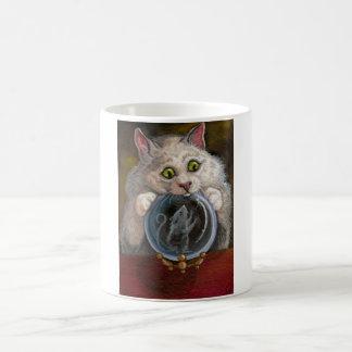 KRISTALLball weiße Katzen-MäuseTasse Tasse