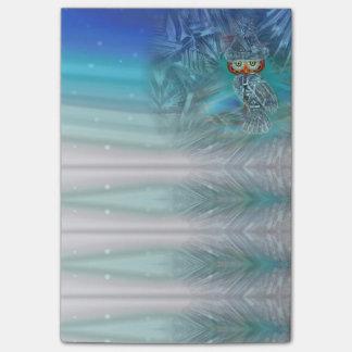 Kristallisierte Winter-Mode-Eule Post-it Klebezettel