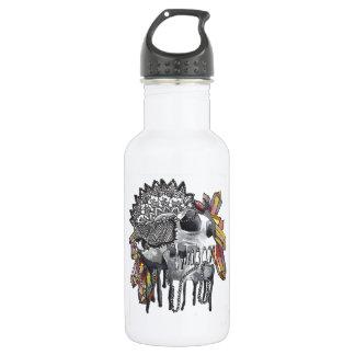 Kristallschädel-Mandala Trinkflasche