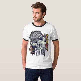 Kristallschädelmandala-T - Shirt