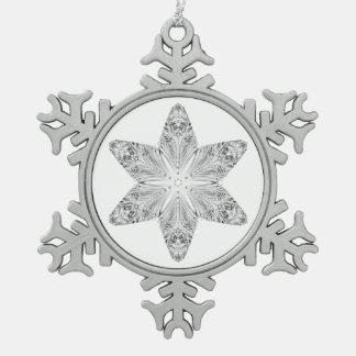 Kristallschneeflocke Schneeflocken Zinn-Ornament