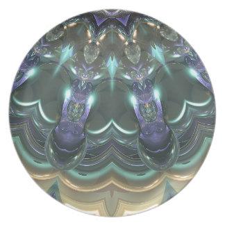 Kristallsun-Reflexionen Teller