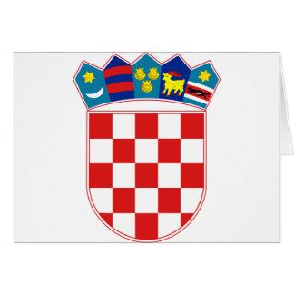 Kroatien-Emblem Karte