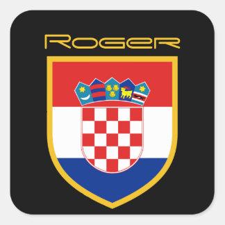 Kroatien-Flagge personalisiert Quadratischer Aufkleber