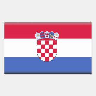 Kroatien-Flagge Rechteckiger Aufkleber