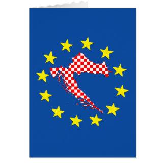 Kroatien in EU Karte
