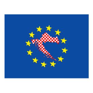 Kroatien in EU Postkarte