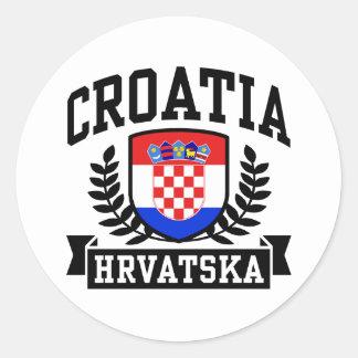 Kroatien Runder Aufkleber