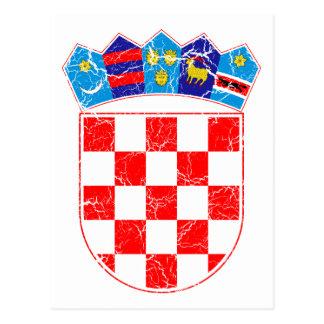 Kroatien-Wappen Postkarte