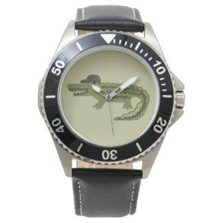 Krokodil cool armbanduhr