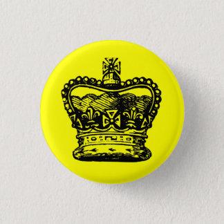 Krone Runder Button 3,2 Cm