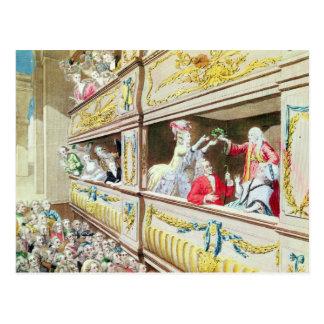 Krönung von Voltaire am Theater Francais Postkarte