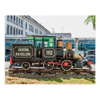 Kuba: Baldwin Dampflokomotive angezeigt in Havana Postkarte