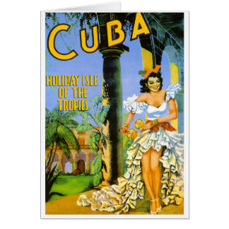 Kuba-Feiertagsinsel des Tropenreiseplakats Karte