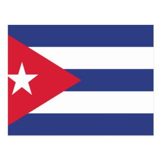 Kuba-Flagge Postkarte