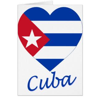 Kuba-Flaggen-Herz Karte