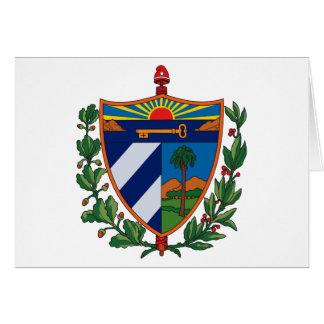 Kuba-Wappen Gruß-Karte Karte