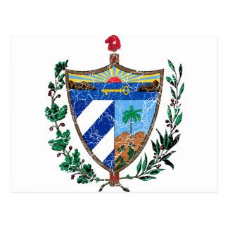 Kuba-Wappen Postkarte