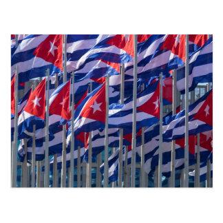 Kubanische Flaggen, Havana, Kuba Postkarte