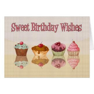 Kuchen-Geburtstags-Karte - süße Grußkarte