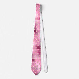 Kuchen-rosa kariertes Muster Personalisierte Krawatte