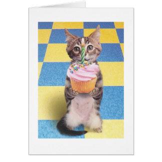 Kuchenkatzen-Geburtstagskarte Karte