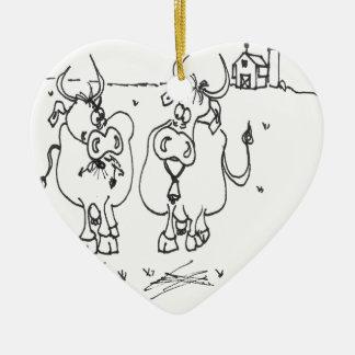Kuh-Cartoon 3348 Keramik Ornament