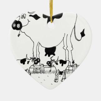 Kuh-Cartoon 3372 Keramik Ornament