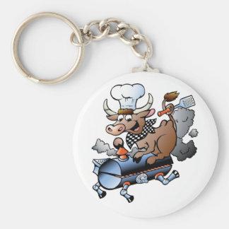 Kuh, die GRILLEN Keychain reitet Schlüsselanhänger