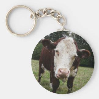 Kuh, die heraus Zunge haftet Schlüsselanhänger