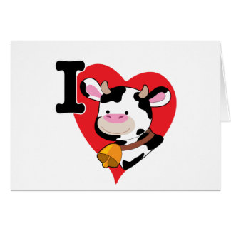 Kuh-Herz Grußkarte