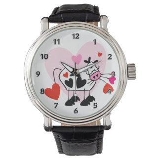 Kuh-Herzen Armbanduhr