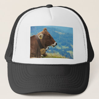 Kuh im Gebirge Truckerkappe