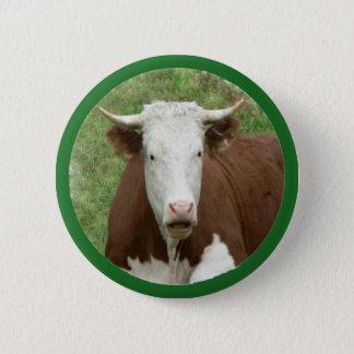 Kuh im Gras Button-Zurück Knopf Runder Button 5,7 Cm