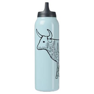 Kuh-Linie Kunst-Entwurf Isolierte Flasche